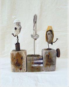 driftwood sailors by Paul Hérail