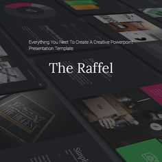 Raffel Business Clean Theme — Powerpoint PPT #light #green • Available here → https://graphicriver.net/item/raffel-business-clean-theme/14562320?ref=pxcr