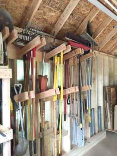Best Tool Shed Organizing Ideas On Shed and garage in storage building organization ideas - Storage And Organization Tool Shed Organizing, Storage Shed Organization, Diy Garage Storage, Storage Ideas, Organizing Ideas, Storage Hacks, Storage Solutions, Diy Storage House, Garage Workshop Organization