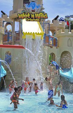 Splish Splash at Wet 'n Wild Orlando, my grand children's favorite place! We go every summer!