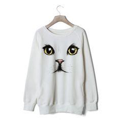 Free Shipping men/women funny giraffe Print long Sleeve sweaters ...