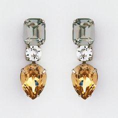 Sorrelli Evening Moon | Modern Deco Drop Crystal Earrings