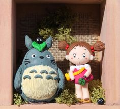 Totoro and May clay by tanadelbianconiglio on deviantART