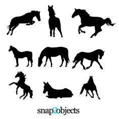 9 FREE Horses Vector Silhouettes