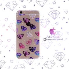 Items similar to Galaxy Diamonds iPhone Plus Clear Case Cute on Etsy Iphone 6, Iphone Cases, 6s Plus Case, Diamonds, Cute, Etsy, Kawaii, Diamond