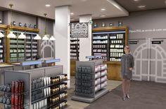 Agencement d'une pharmacie - #designdespace #signaletique #pharmacie #desrondsdansleau
