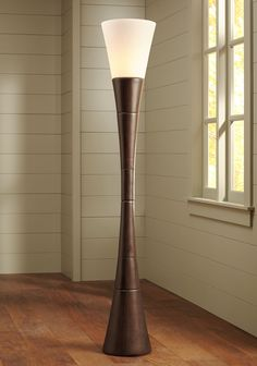 Possini Euro Design Urban Coffee Wood Torchiere Floor Lamp - #EU19925 - Euro Style Lighting