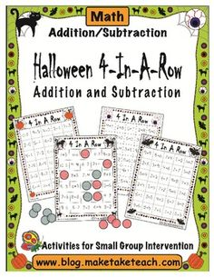 Halloween Themed 4-In-A-Row for Math
