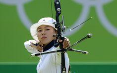 Hyejin Chang, Sydkorea vann damernas individuella tävling i bågskytte, silver Lisa Unruh, Tyskland och brons Bobae Ki, Sydkorea.