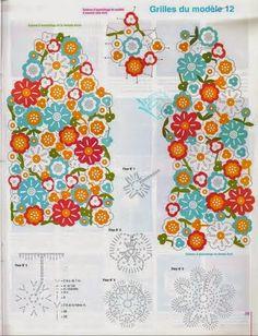 Chaqueta Flores de Colores Patron - Patrones Crochet