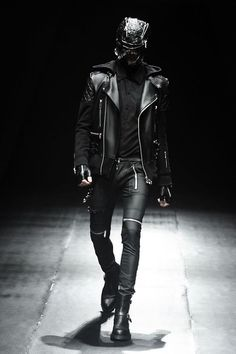 fashion, black, leather on leather on leather – Leather Style Dark Fashion, Leather Fashion, Gothic Fashion, Leather Men, Leather Pants, Black Leather, Street Fashion, Cyberpunk Mode, Cyberpunk Fashion