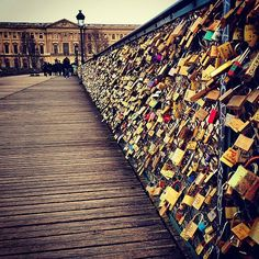 Add a Lock to the Love Lock Bridge in Paris: Source: Instagram user ___benn