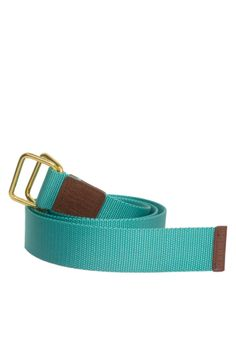 Canvas D-Ring Belt in Turquoise