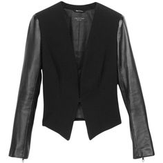 Pre-owned Rag & Bone Pascal Black Blazer ($234) ❤ liked on Polyvore featuring outerwear, jackets, blazers, black, long jacket, rag bone jacket, tailored jacket, tailor leather jacket and long blazer jacket
