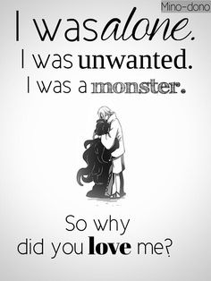 Tsukihiko y Azami I was alone. I was not desirable. I was a monster . Sad Anime Quotes, Manga Quotes, True Quotes, Best Quotes, Depression Quotes, Depression Art, Dark Quotes, A Silent Voice, Les Sentiments