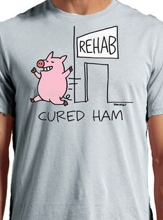 "Men's ""Cured Ham"" Tee by Johnson Apparel (Silver)"