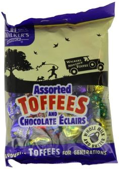 TOPSELLER! Walkers Assorted Royal Toffees, 5.29-... $30.91 British Sweets, Snack Recipes, Snacks, Eclairs, Toffee, Chips, Chocolate, Food, Snack Mix Recipes