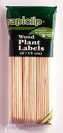 Wood Plant Labels - 6 Inch / 15cm - 24 Pack by Hirt's. $1.99. 1/2 inch wide. Packs of 24 labels. Six inch long wood plant labels. Perfect for marking newly planted seeds. These six inch long wood plant labels are 1/2 inch wide and are perfect for marking newly planted seeds. Packs of 24 labels.