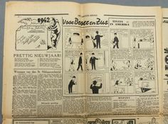 """Kuifje - Het Laatste Nieuws - 1 januari 1942 - met de wensen van """"Kuifje in Bobbie"""" - """"Kuifje in Amerika"""" (1942)  Dit probleem van donderdag 1 januari 1942 is uitzonderlijk aangezien het kan worden gevonden in deze pagina's van de """"Het Laatste Nieuws"""" wensen voor 1942 """"Kuifje en Bobbie""""...En in de buurt een Raad van bestuur en Kuifje in Amerika in het Nederlands zonder wie Kuifje later is werd """"WONDEN"""".Dagboek al zeer zeldzaam met dit aantal Nieuwjaar 1 januari 1942 dit exemplaar is een…"""