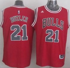 82a62d0c18f Revolution 30 Bulls  21 Jimmy Butler Red Stitched NBA Jersey Chicago Bulls  Basketball