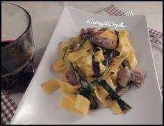 I viaggi di Ciopilla: Pappardelle all'uovo con puntarelle al curry e sal...