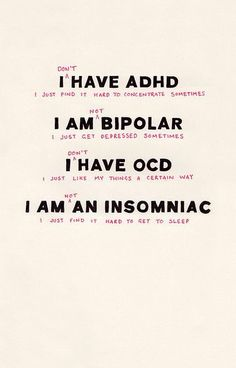 Disorders are not adjectives