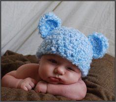 Too adorable crochet baby hat!