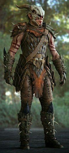 skyrim scaled horn armor