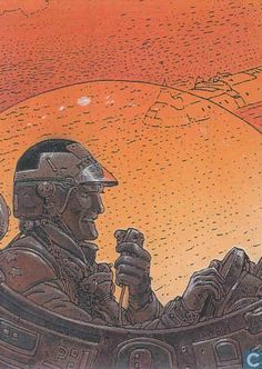 Moebius: Collector Cards#26 Torpenoczel Chot Jean Giraud, Comic Book Artists, Comic Artist, Science Fiction, Space Knight, Moebius Art, Jordi Bernet, Western Comics, World Of Fantasy