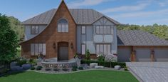 3D Landscape Design - Front Yard Curb Appeal in Bloomington, MN #LandscapeDesign #LandscapingDesign #Minnesota #3Ddesign