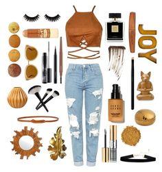 """🍂🍁🍂"" by bashful-beauty ❤ liked on Polyvore featuring Topshop, Yves Saint Laurent, Avon, MAC Cosmetics, Illamasqua, L.A. Girl, Bobbi Brown Cosmetics, Rimmel, SUQQU and Draper James"