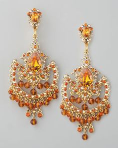 Y1AJ2 Jose & Maria Barrera Topaz-Colored Drop Earrings