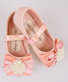 Another great find on #zulily! Pink Pearl Ribbon Bow Ballet Flat #zulilyfinds