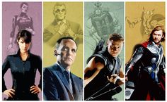 Marvel: Comics to Studios (Maria Hill, Phil Coulson, Hawkeye, and Thor)