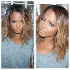 Sale !!! Brazilian Ombre Bob Wig For Black Women 1b#T27# Glueless Ombre Lace Front Wig Ombre Bob Full Lace Wigs Human Hair