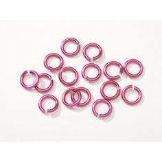 Chain Maille Aluminum Jump Rings Magenta -7.25mm