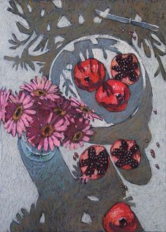 Buy Still life with garnets, Pastel drawing by Natalia Leonova on Artfinder. Discover thousands of other original paintings, prints, sculptures and photography from independent artists. Pastel Drawing, Pastel Art, Painting & Drawing, Art And Illustration, Pinturas Color Pastel, Fruit Painting, Artist Sketchbook, Still Life Art, Art Inspo