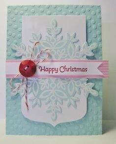 Happy Christmas - Snowflake Card by Barb Mann - Cards and Paper Crafts at Splitcoaststampers