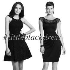 Camille La Vie Short Black Dresses in sexy cocktail party style - because every girl needs the little black dress aka LBD