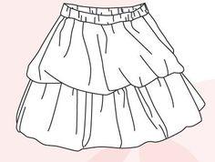 """Une jupe boulle à double volants proposée par Vanessa Salaun . Le patron est disponible de la taille 3 mois à 16 ans. Pour recevoir les fichiers du patron et tutoriel , vous devez cliquer sur le bouton """"télécharger"""" de la page, puis inscrire votre nom..."""