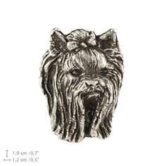 Yorkshire Terrier head dog pin limited edition by ArtDogshopcenter