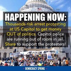 I proudly stand with the #DemocracySpring protest movement.