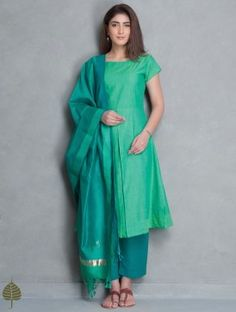 Green Mangalgiri Kurta by Jaypore