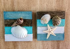 Miniature Beach Picture Starfish Picture Shell Picture Beach Wall Art Dollhouse Wall Art Miniature accessory Wall Decor from 2 Stinkin Cute Miniatures Sea Crafts, Diy And Crafts, Arts And Crafts, Stick Crafts, July Crafts, Summer Crafts, Holiday Crafts, Seashell Art, Seashell Crafts