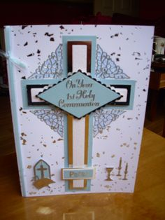 First Communion Card for a Boy