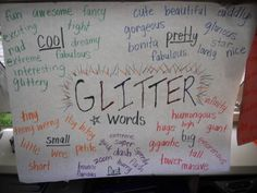 Glitter Words for writing in the classroom. Glitter words make your writing shine!