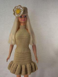 barbie doll crochet dresses | uploaded to pinterest