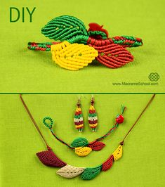 Macrame Leaf Bracelet Tutorial - http://youtu.be/WTbDi18YGhQ