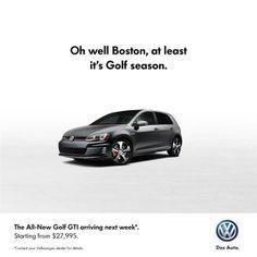 Volkswagen Canada Reminds Bruins Of Impending Golf Season