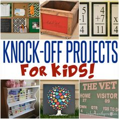 DIY Home Decor | Get the look of Pottery Barn Kids and Land of Nod for your child's bedroom or playroom for LESS with these knock-off projects! | #Ad